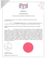 Anguilla_Tax Certificate Page: 1