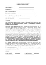 Slovakia_Deed of Indemnity Page: 1