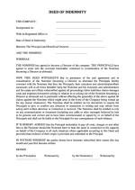 Slovakia_Deed of Indemnity Page: 1