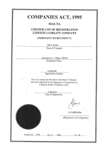Malta_Certificate of Incorporation Page 1 Shot
